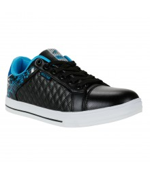 Vostro Black Blue Casual Shoes for Men - VSS0165